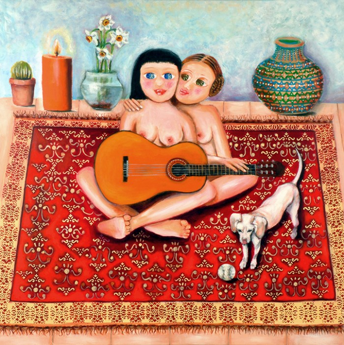 couple and guitar
